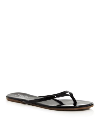 Glosses Patent Leather Flip-Flops