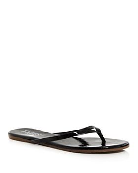 TKEES - Women's Glosses Patent Leather Flip-Flops