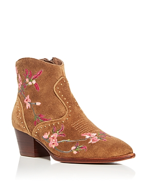 Ash Heidi Embroidered Pointed Toe Booties