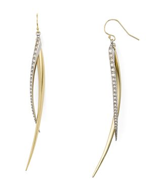 Alexis Bitter Two Tone Tapered Spear Drop Earrings