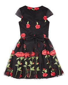 David Charles - Girls' Rose Print Dress - Big Kid