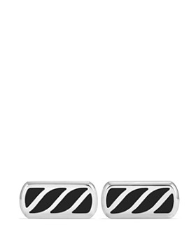 David Yurman - Graphic Cable Cufflinks with Black Onyx