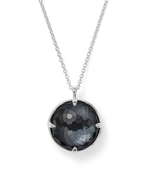 Ippolita Sterling Silver Rock Candy Doublet Pendant Necklace in Clear Quartz and Hematite, 31
