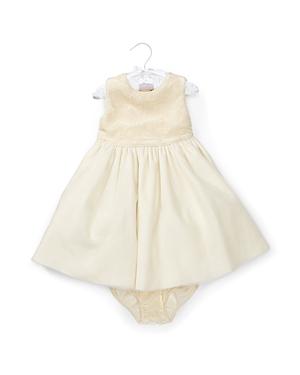 Ralph Lauren Childrenswear Girls' Embroidered Overlay Velvet Dress & Bloomer Set - Baby
