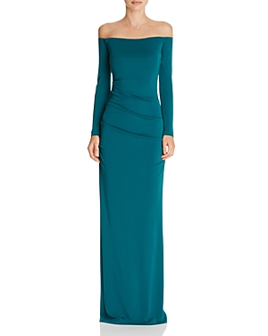 Nicole Miller Sutton Off-The-Shoulder Gown