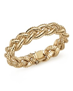 Bloomingdale's - 14K Yellow Gold Braided Tubogas Bracelet - 100% Exclusive