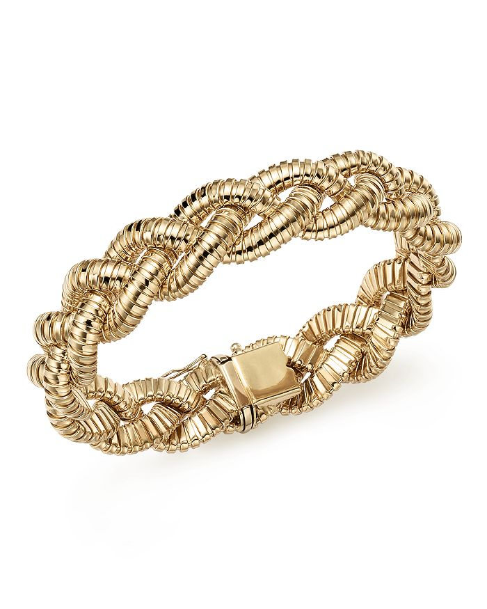 Bloomingdale's 14k Yellow Gold Braided Tubogas Bracelet - 100% Exclusive