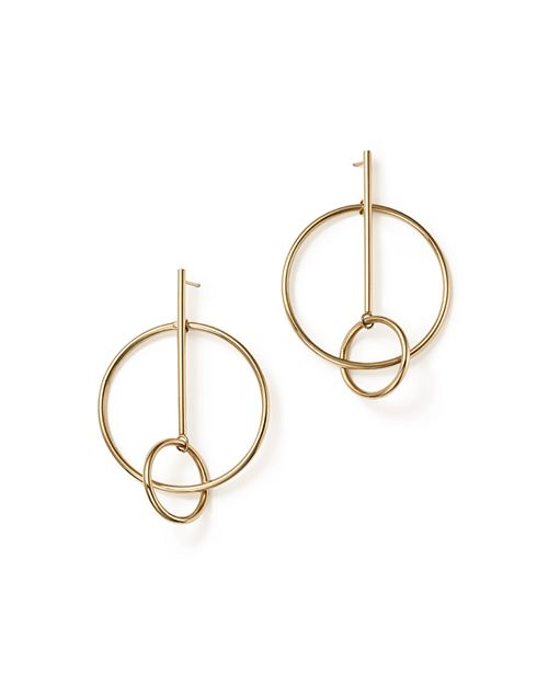 Bloomingdale's - 14K Yellow Gold Stick and Circle Drop Earrings - 100% Exclusive