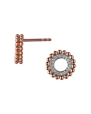 Links of London Diamond & 18K Rose Gold Stud Earrings