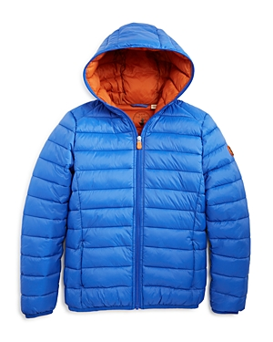Save The Duck Boys' Ultra Light Hooded Puffer Jacket - Sizes 6-14