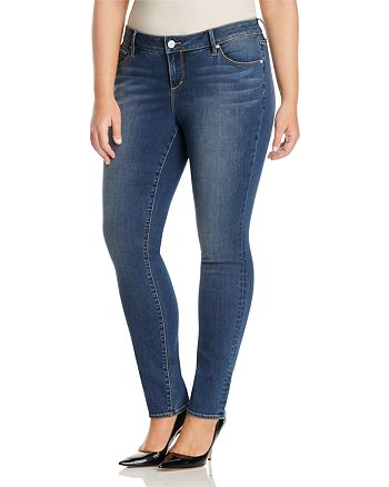19fae84002c SLINK Jeans Plus SLINK Jeans Danielle Skinny Jeans in Medium Blue ...