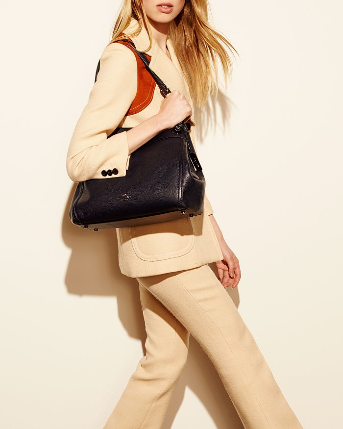 a3a117cea06a COACH - Turnlock Edie Shoulder Bag in Pebble Leather