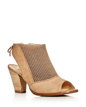 Paul Green Lexi Perforated Open Toe Booties