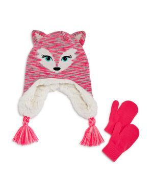 Capelli Girls' Fancy Fox Hat & Mittens Set - Little Kid