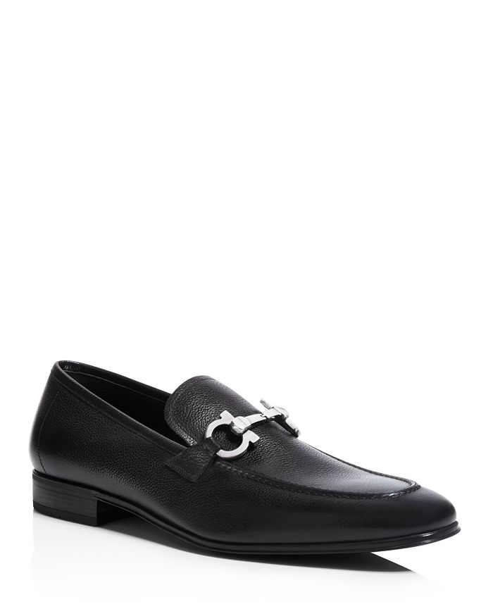 73baef2919b Salvatore Ferragamo - Men s Flori 2 Stitched Almond Toe Double Gancini Bit  Leather Loafers