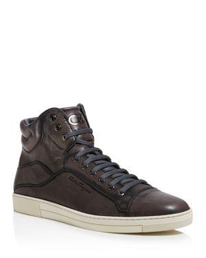 Salvatore Ferragamo Stephen 4 High Top Sneakers