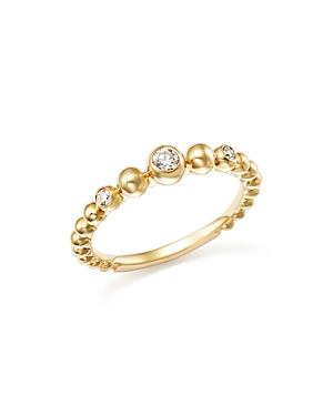 Diamond Beaded Band in 14K Yellow Gold, .10 ct. t.w. - 100% Exclusive