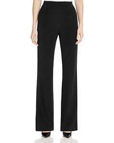 Lafayette 148 New York - Metropolitan Stretch Silk Straight Pants
