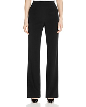 Lafayette 148 New York - Metropolitan Stretch Silk Straight Pants ... 37974878902