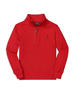 Ralph Lauren Childrenswear Boys' Waffle Half Zip Top - Sizes 4-7