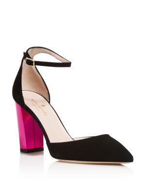 kate spade new york Pax Color Block Heel Ankle Strap Pumps