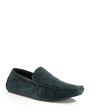 A. Testoni Cashmere-Lined Suede House Slippers