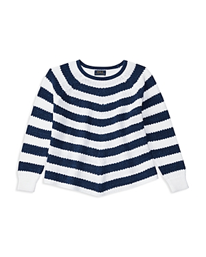 Ralph Lauren Childrenswear Girls Flared Striped Sweater  Sizes Sxl