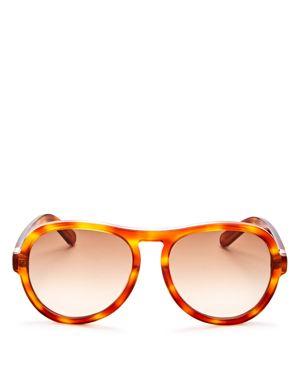 Chloe Marlow Zyl Aviator Sunglasses, 59mm