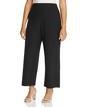 Eileen Fisher Plus Wide Leg Ankle Pants
