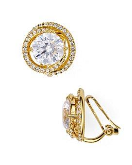 Nadri - Round Clip-On Earrings