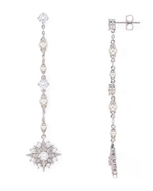 Nadri Venus Linear Drop Earrings 1886367