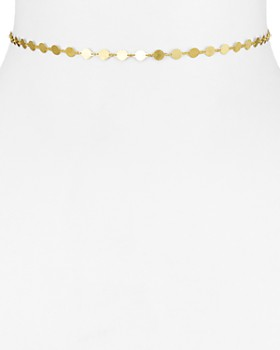 """Argento Vivo - 18K Gold-Plated Sterling Silver Disc Choker Necklace, 12"""""""