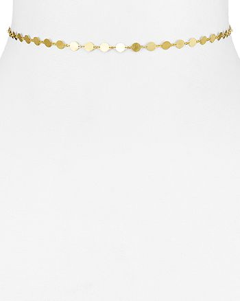 Argento Vivo - 18K Gold-Plated Sterling Silver Disc Choker Necklace, 12""