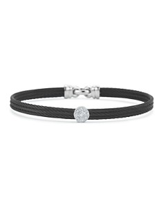 ALOR Diamond Black Cable Bangle - Bloomingdale's_0