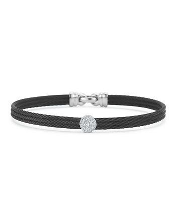 ALOR - Diamond Black Cable Bangle