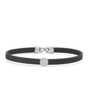 Alor Diamond Black Cable Bangle