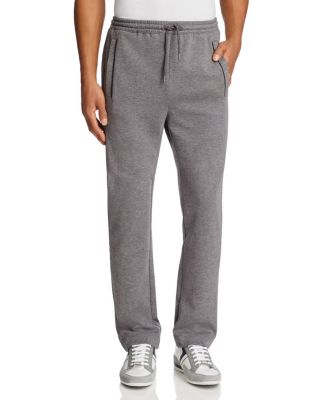 BOSS GREEN Green Hadim Piped Sweatpants in Gray