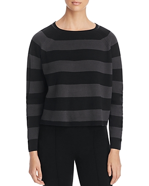 Eileen Fisher Cropped Striped Sweater