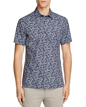 Z Zegna Forrest Print Slim Fit Button-Down Shirt