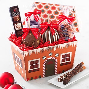 Mrs. Prindable's Gingerbread House Caramel Apples and Confections Gift Box