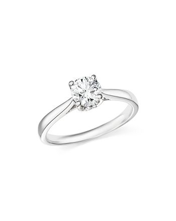 Bloomingdale's - Certified Diamond Round Brilliant Cut Solitaire Ring in Platinum, 1.0 ct. t.w. - 100% Exclusive