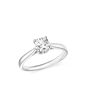 Bloomingdale's CERTIFIED DIAMOND ROUND BRILLIANT CUT SOLITAIRE RING IN PLATINUM, 1.0 CT. T.W. - 100% EXCLUSIVE