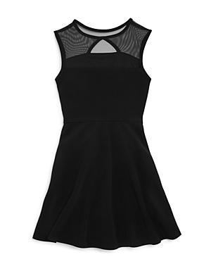 Aqua Girls Illusion Yoke Skater Dress  Sizes Sxl  100 Exclusive