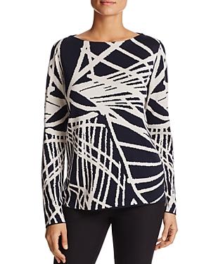 Lafayette 148 New York Spindled Jacquard Sweater