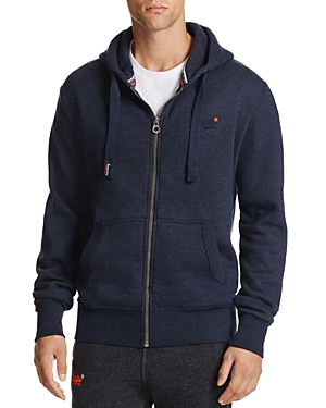 Superdry Orange Label Zip Hoodie Sweatshirt