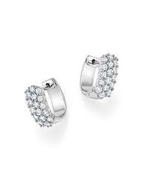 Bloomingdale's - Diamond Huggie Hoop Earrings in 14K White Gold, 1.0 ct. t.w.- 100% Exclusive