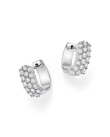 27b4c135927c45 Bloomingdale's - Diamond Huggie Hoop Earrings in 14K White Gold, 1.0 ct.  t.w.