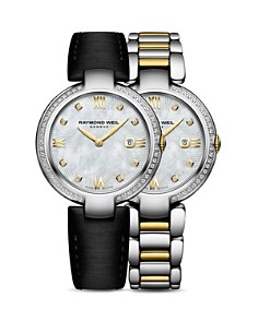 Raymond Weil Shine Mother-Of-Pearl and Diamond Watch with Interchangeable Straps, 32mm - Bloomingdale's_0