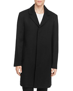 Cole Haan - Sweater Bib Wool Blend Twill Coat