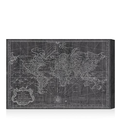 "Oliver Gal - World Map 1778 Wall Art, 24"" x 16"""